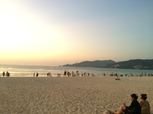 sunset phuket beach