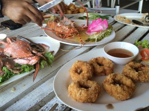 seafood at the pier